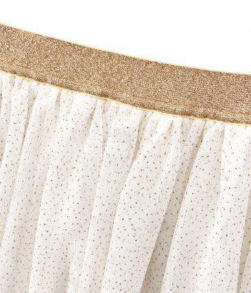 Meisjesrok wit Marshmallow / geel Dore