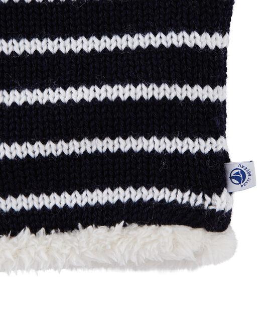 Snood voor kinderen blauw Smoking / wit Marshmallow