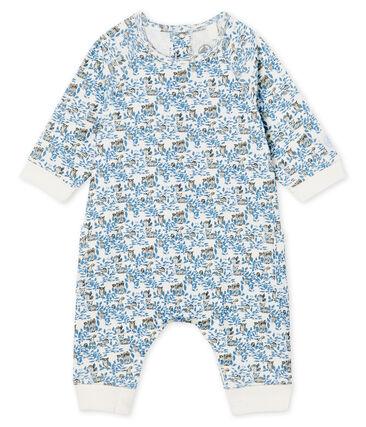 Lang babypakje jongens van gebreide stof wit Marshmallow / wit Multico