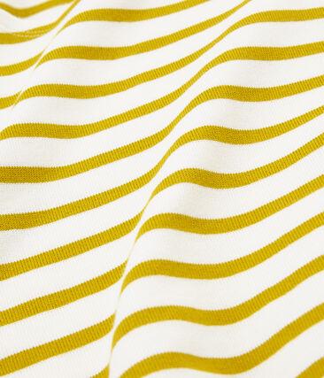 Iconisch marinetruitje voor heren wit Marshmallow / geel Bamboo