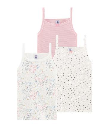 Drie meisjesshirts met schouderbandjes