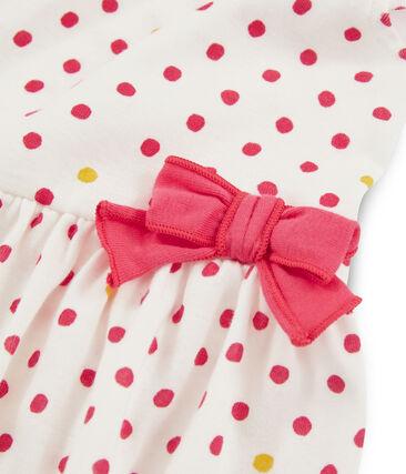 Meisjesjurkje wit Marshmallow / wit Multico