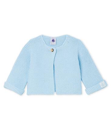 Cardigan baby van tricot 100% katoen blauw Toudou