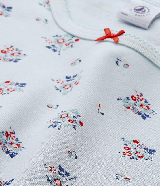 T-shirt fille imprimé en jersey stretch blauw Fraicheur / wit Multico