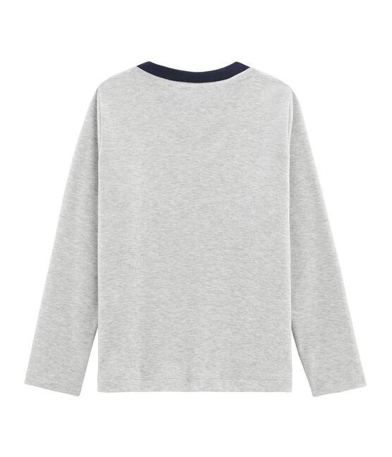 T-shirt met opdruk en lange mouwen jongens grijs Beluga