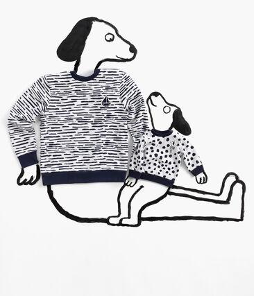 Sweatshirt bébé mixte Jean Jullien MARSHMALLOW/DOTTIES