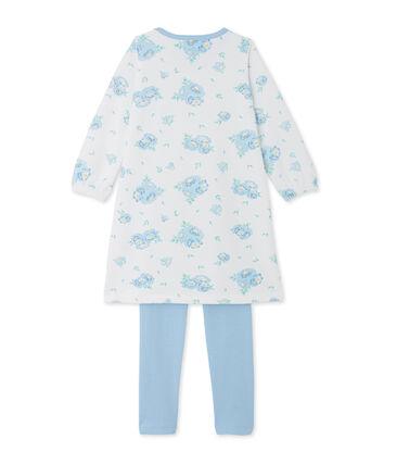 Fluwelen nachthemd met print en legging