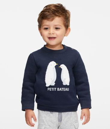 Sweatshirt van molton babyjongen blauw Smoking
