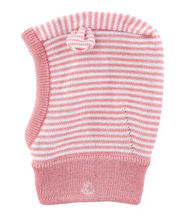 Babycapuchon roze Charme / wit Marshmallow