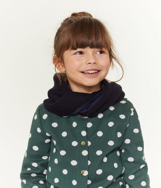 Cardigan met print meisjes groen Sousbois / wit Marshmallow