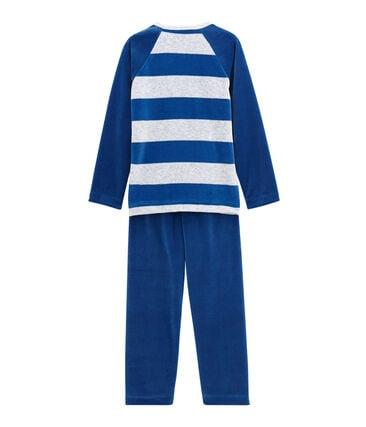 Jongenspyjama blauw Limoges / grijs Poussiere
