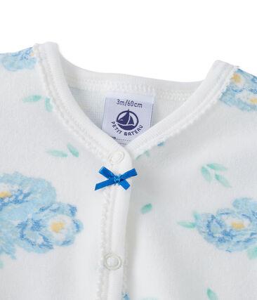 Fluwelen pyjama met print voor babymeisjes