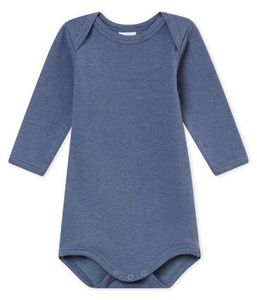 Body met lange mouwen voor babyjongens blauw Turquin