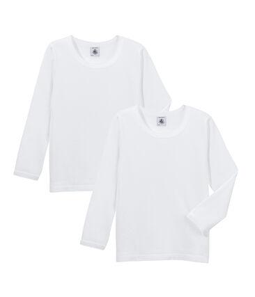 Duo de tee-shirts manches longues fille
