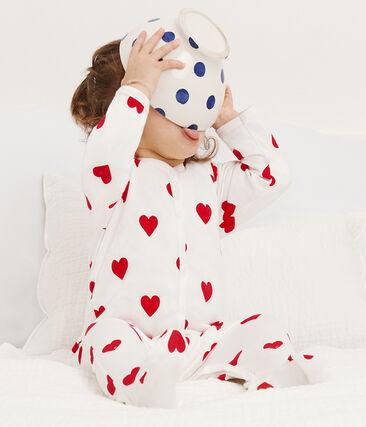 Dors Bien bébé fille en molleton blanc Marshmallow / rouge Terkuit