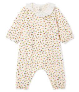 Lang babypakje van gebreide stof wit Marshmallow / wit Multico