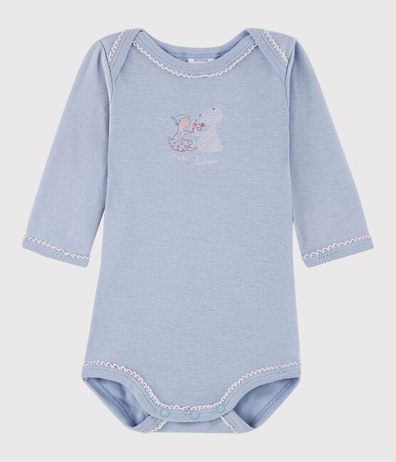 Rompertje lange mouwen babymeisje blauw Vanais