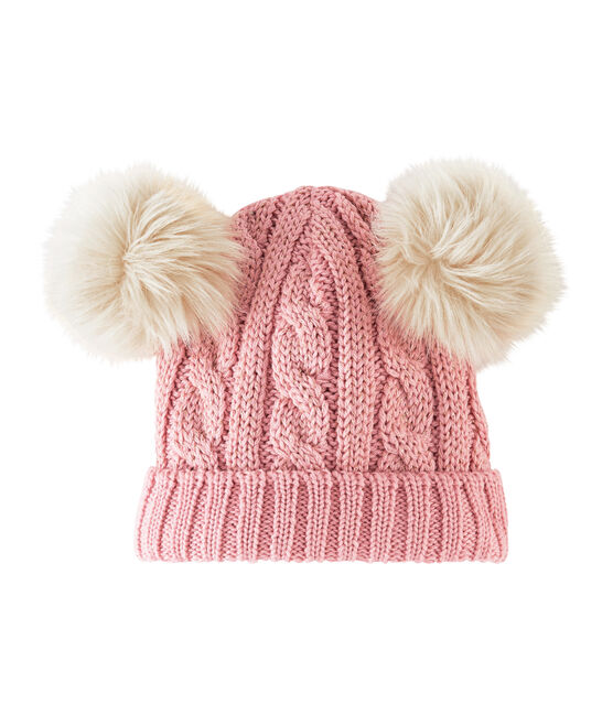 Bonnet enfant fille rose Charme / jaune Or