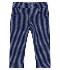 Gebreide broek met strepen voor babyjongens