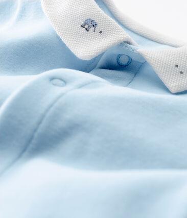 Pyjama van velours en effen katoen voor babyjongens blauw Fraicheur
