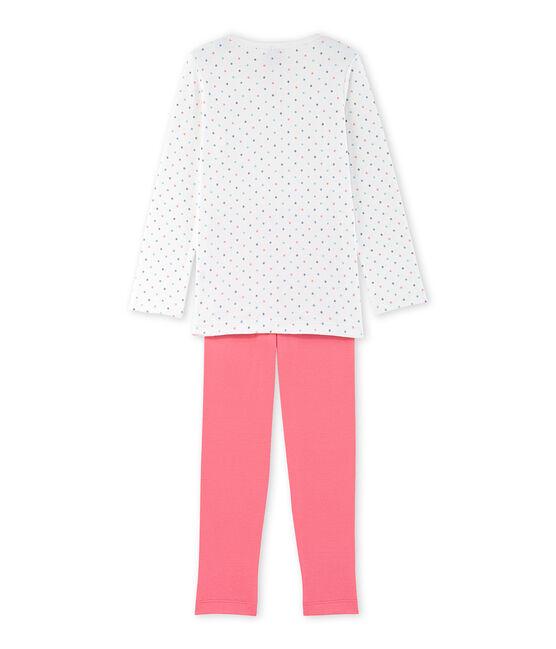 Meisjespyjama met stippen wit Lait / rood Carmen