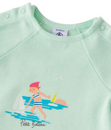 Set met short en T-shirt voor babymeisjes groen Amandelium / groen Flag