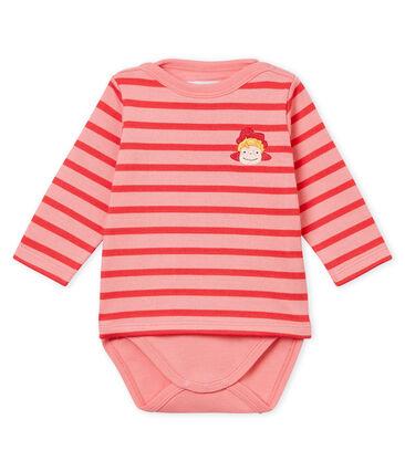 Body-met-marinetruitje voor baby's roze Gretel / roze Impatience