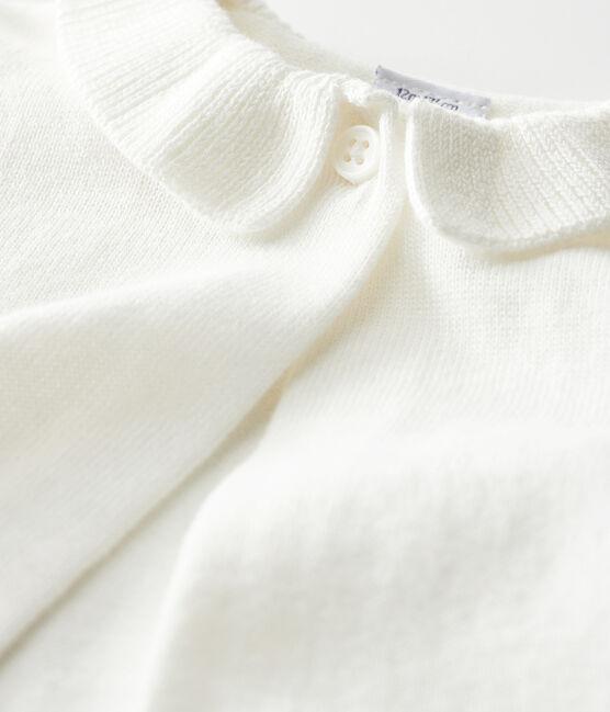 Bolero bébé fille blanc Marshmallow
