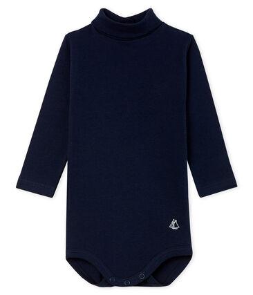 Body met lange mouwen en opgerolde kraag baby gemixt blauw Smoking