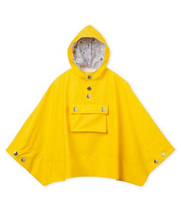 Uniseks cape voor kinderen geel Jaune