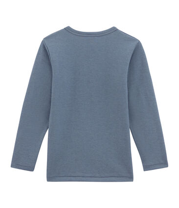Jongens tee-shirtmet lange mouwen blauw Turquin