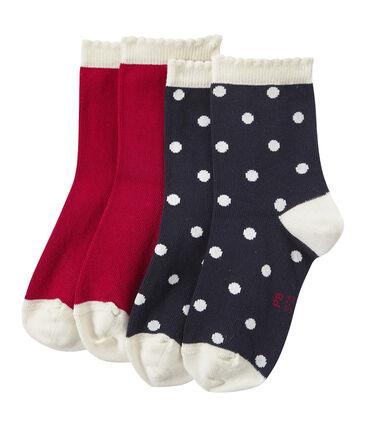 Lot de 2 paires de chaussettes fille
