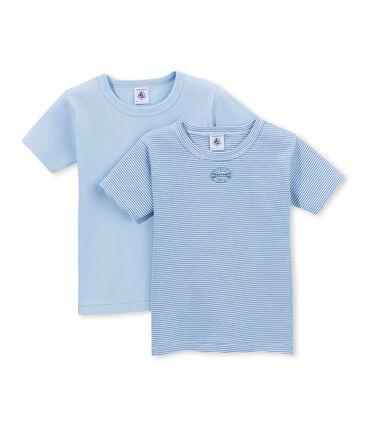 Lot de 2 t-shirts garçon rayés milleraies lot .