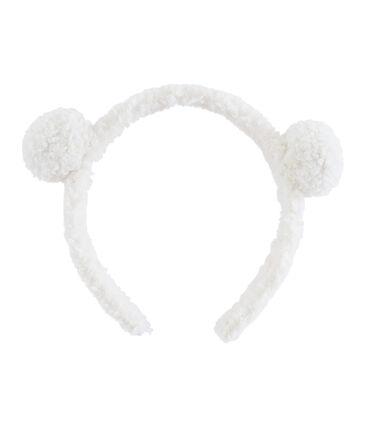 Serre-tête enfant fille blanc Marshmallow