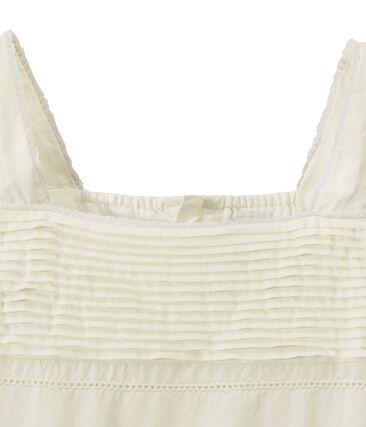 Robe de cérémonie fille dentelle et coton