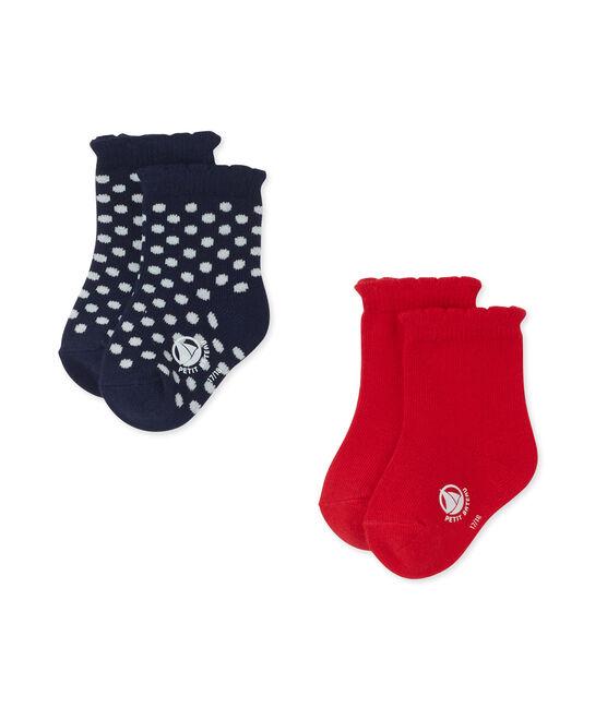 Set van twee paar sokken voor babymeisjes set .