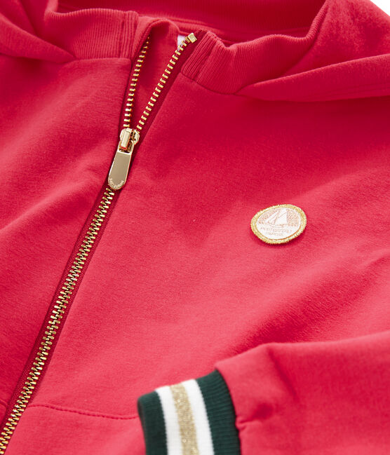 Sweatshirt met capuchon meisjes rood Signal