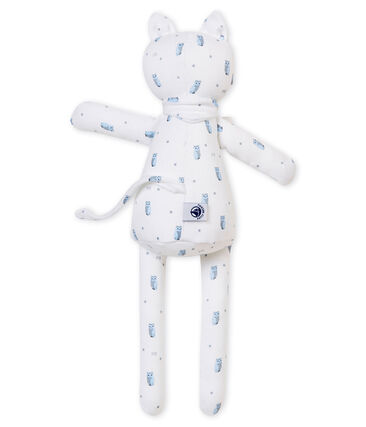 Katknuffel in jersey met een dessin wit Marshmallow / wit Multico