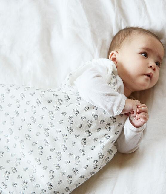 Fluwelen trappelzak baby's wit Marshmallow / grijs Sculpture