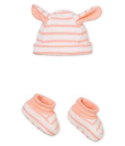 Bonnet et chaussons bébé mixte rayés