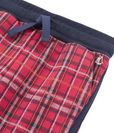 Mesh broek met Schotse ruit jongens rood Terkuit / blauw Smoking