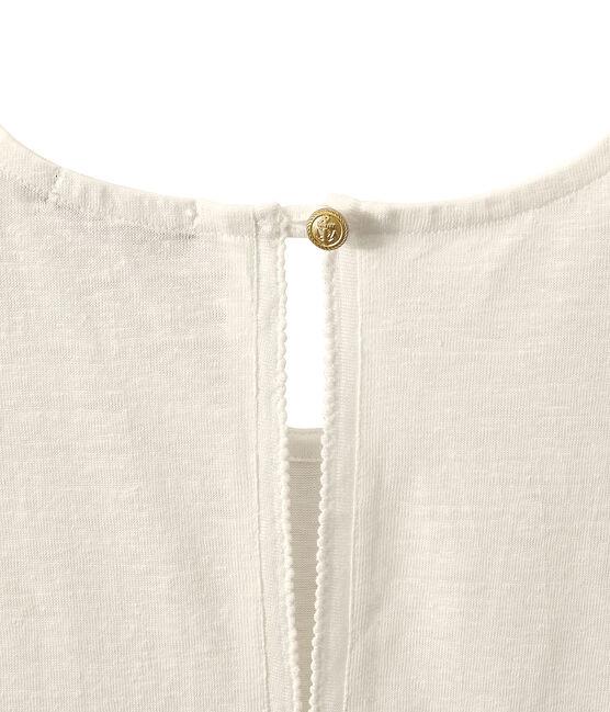 Mouwloze linnen damestop wit Lait