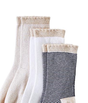 Lot de 3 paires de chaussettes fille lot .