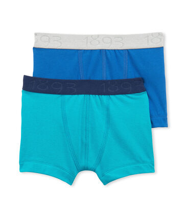 Lot de 2 boxers garçon uni en jersey stretch lot .