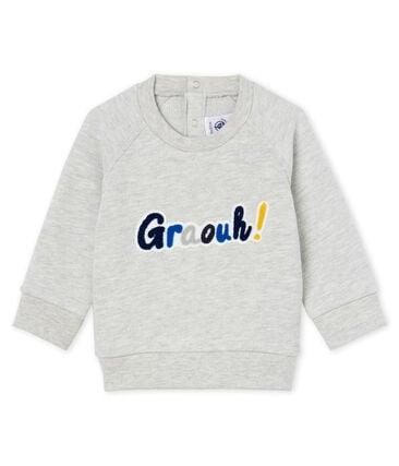 Sweatshirt van molton babyjongen grijs Beluga