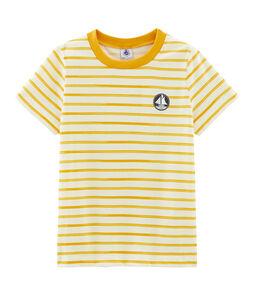 T-shirt met korte mouwen jongens beige Coquille / geel Boudor