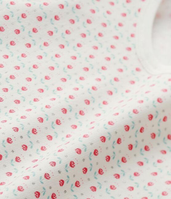 Meisjespyjama met dessin wit Lait / wit Multico