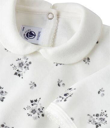 Pyjama met dessin voor babymeisjes wit Lait / wit Multico