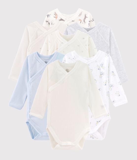 Verrassingstasje van 7 rompers met lange mouwen voor pasgeborenen baby jongen set .