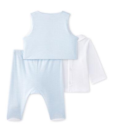 Driedelige set voor babyjongens blauw Fraicheur / wit Ecume
